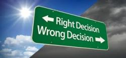 panneau right decision wrong decision